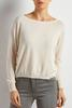Cashmere Blend Ribbed Trim Sweater