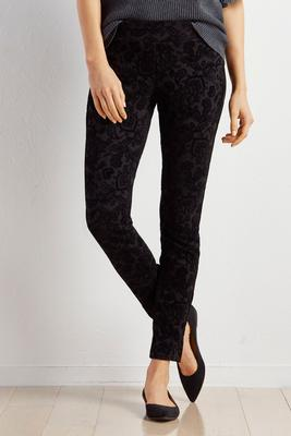 paisley flocked leggings