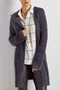 Hooded Fuzzy Duster Cardigan