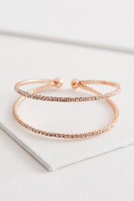 rhinestone double cuff bracelet