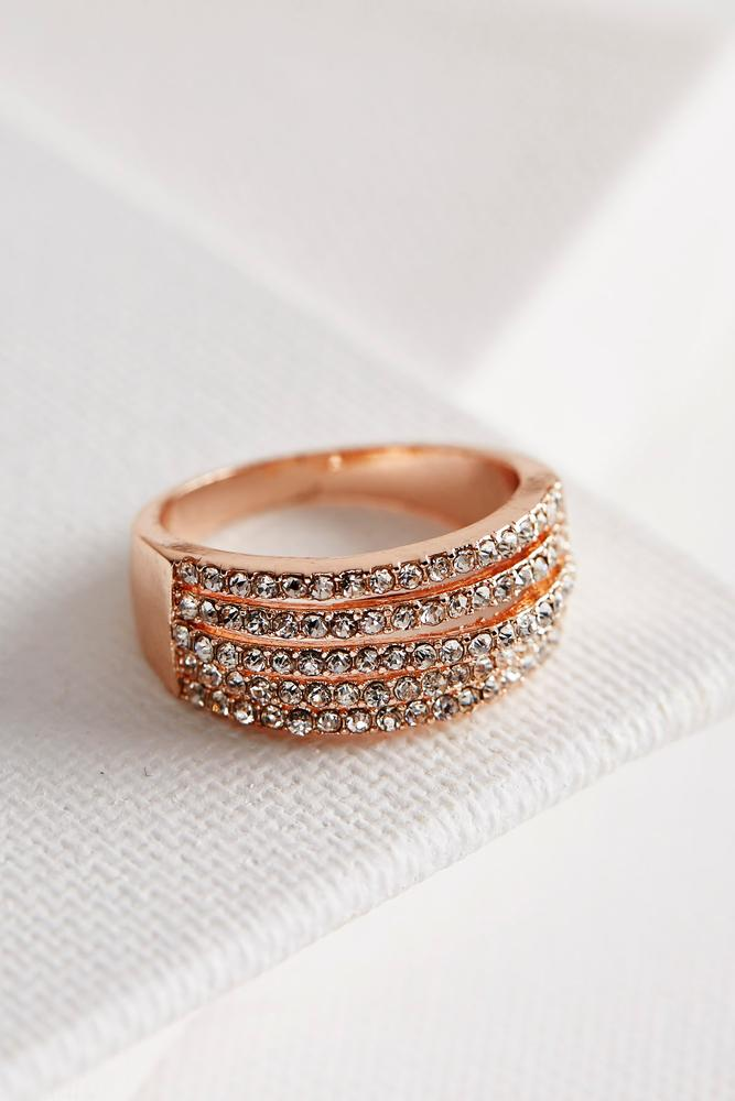 Five Bar Pave Ring