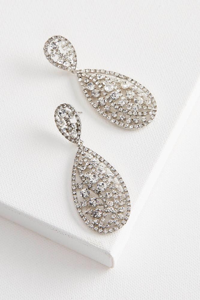 Pave Filigree Dangle Earrings
