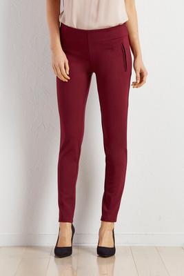 faux pocket ponte leggings