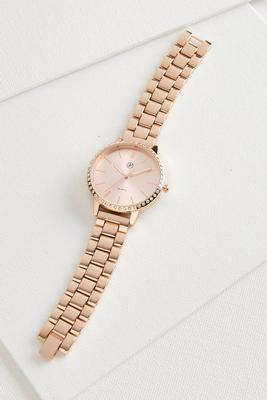 pave bordered boyfriend watch