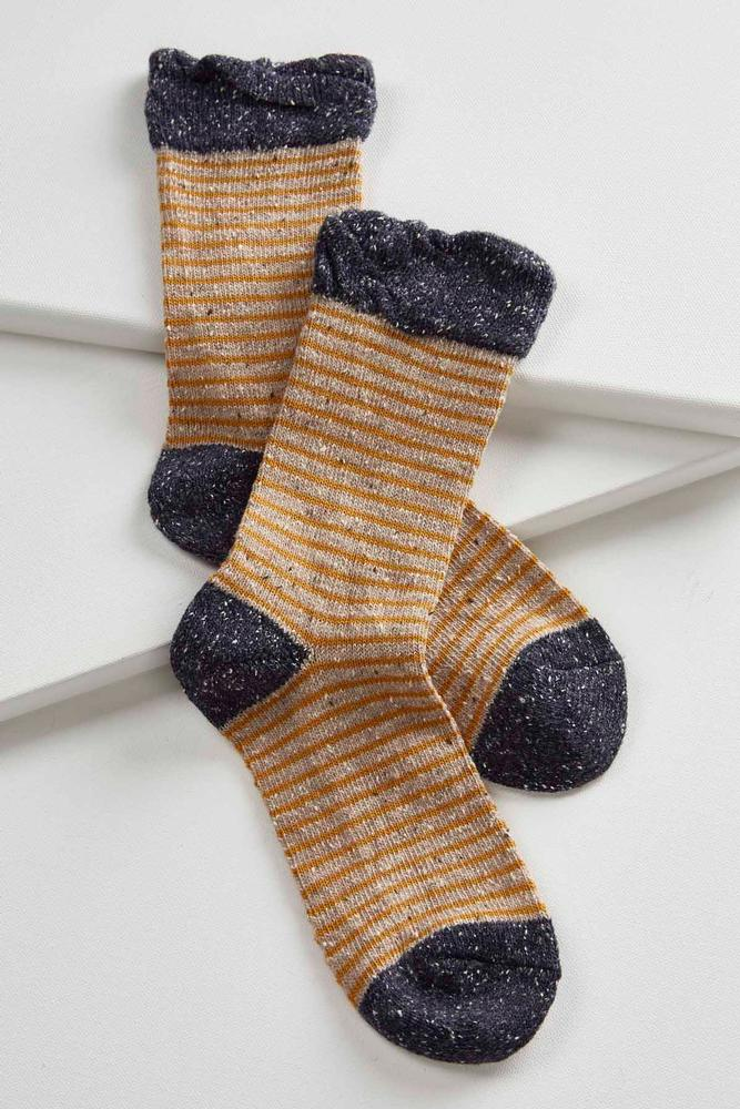 Marled Striped Boot Socks