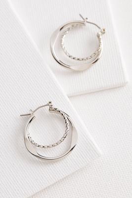 brass double twist hoop earrings