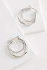 Brass Double Twist Hoop Earrings