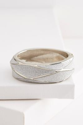 glitter pyramid hinge bracelet