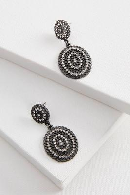 double dangle pave filigree earrings