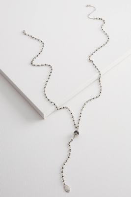 rondelle beaded pendant necklace