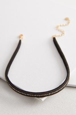 rhinestone chain choker
