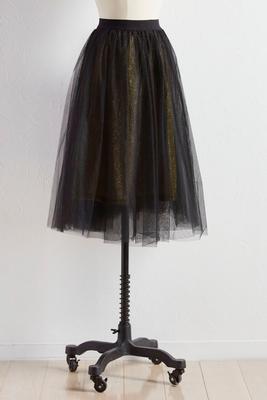 glitter lined tulle skirt