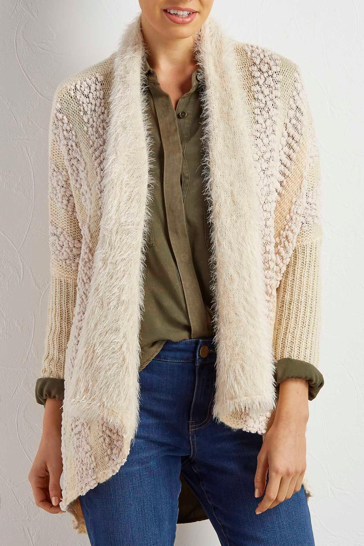 Mixed Knit Cardigan