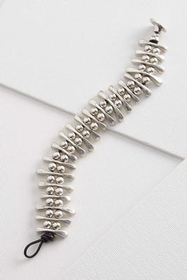 beaded bar toggle bracelet