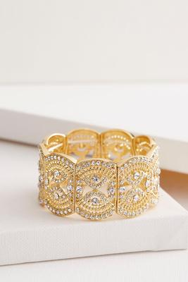 filigree pave stretch bracelet