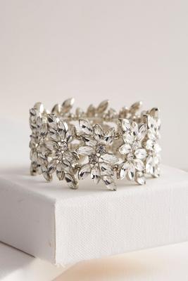 floral rhinestone stretch bracelet