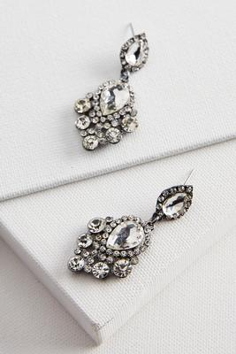 rhinestone drop statement earrings