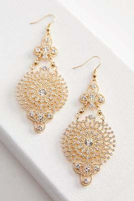 filigree pave statement earrings