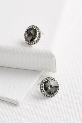 rhinestone haloed stud earrings