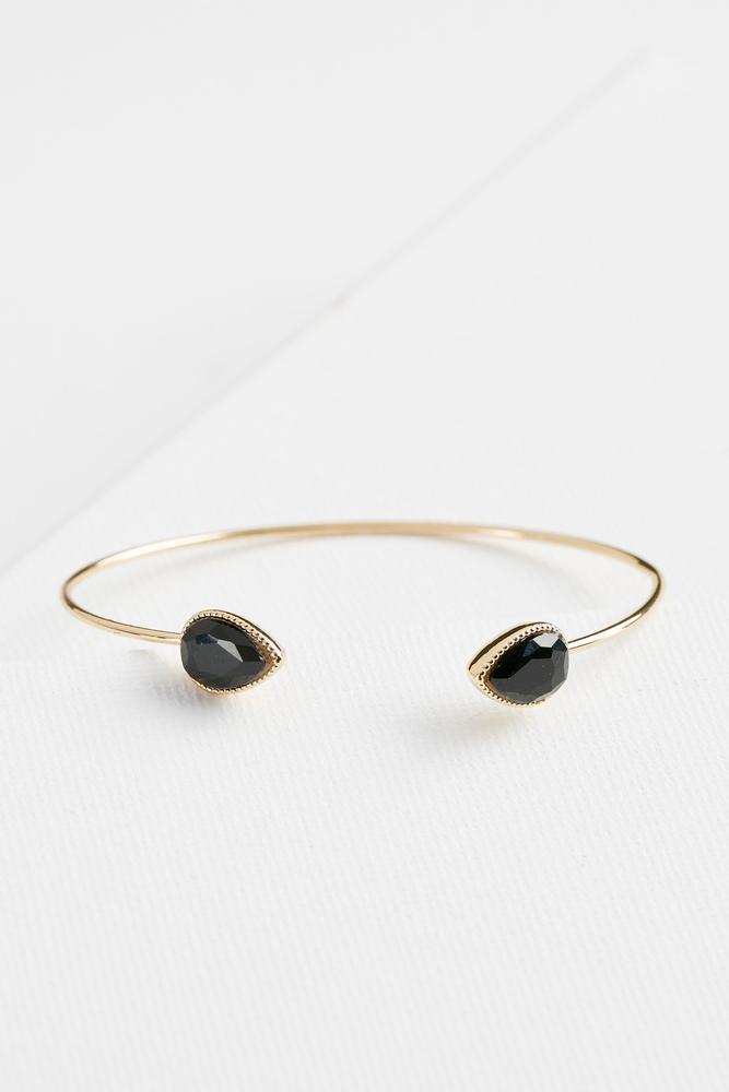 Dainty Stone Cuff Bracelet