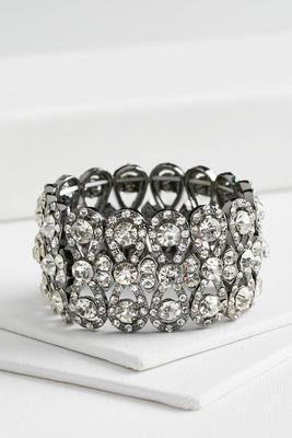 infinity rhinestone stretch bracelet