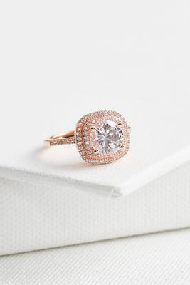 cz pave halo ring