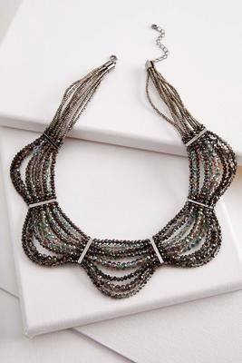 scalloped bib necklace