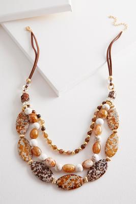 layered semi-precious necklace