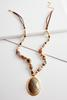 Beaded Semi- Precious Pendant Necklace