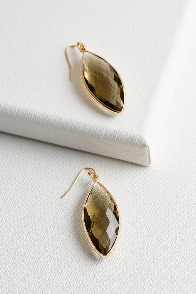 Glass Teardrop Earrings