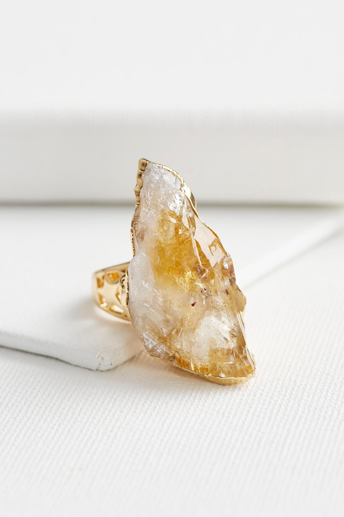 Semi- Precious Druzy Stone Ring