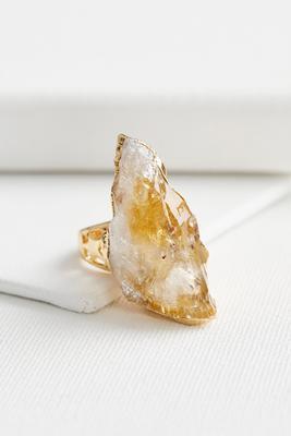 semi-precious druzy stone ring