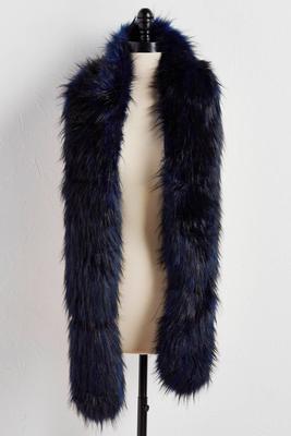 two-tone faux fur stole