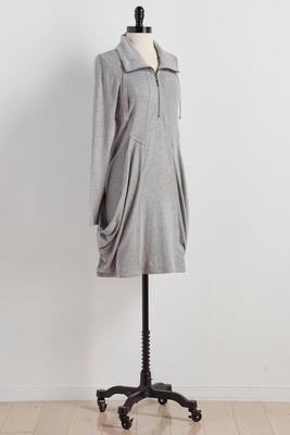 draped pocket utility dress