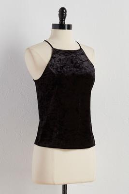crushed velvet princess seam tank