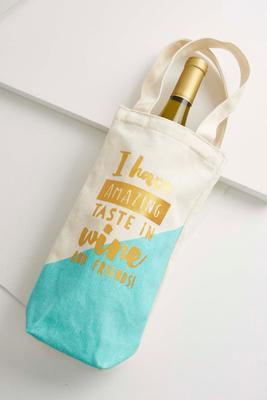 amazing taste wine tote