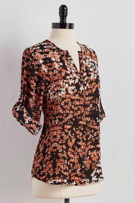 rustic floral popover top
