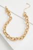 Hammered Metal Chain Necklace