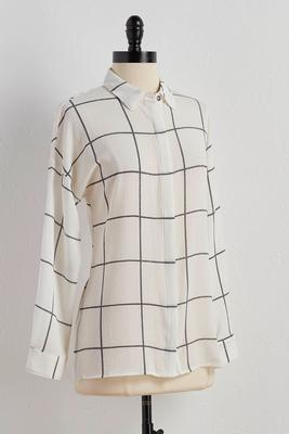 windowpane boyfriend shirt