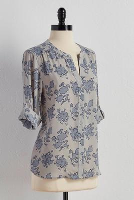 floral print equipment top