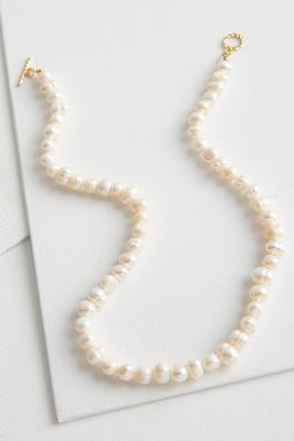 fresh water pearl toggle necklace