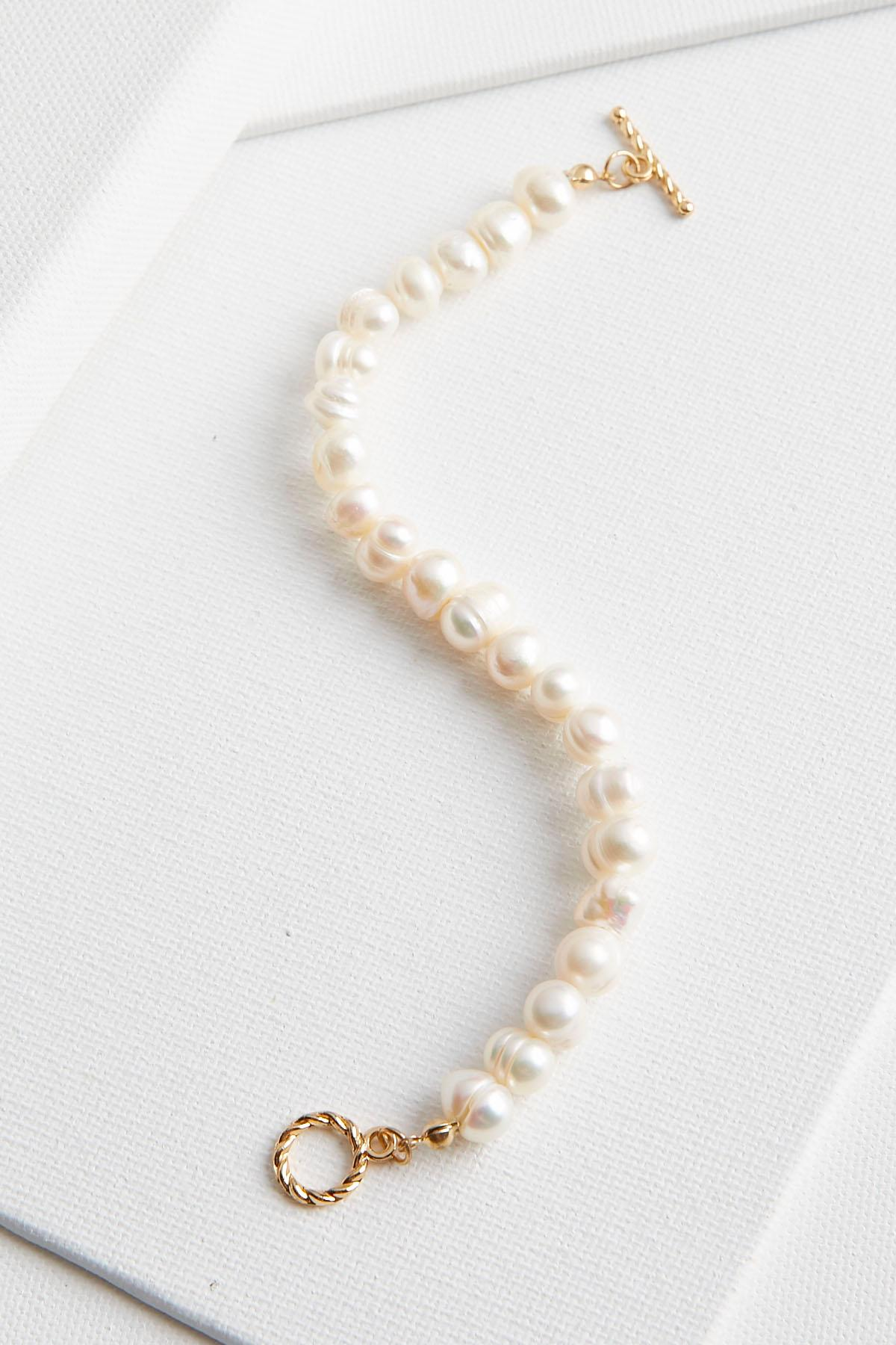 Fresh Water Pearl Toggle Bracelet