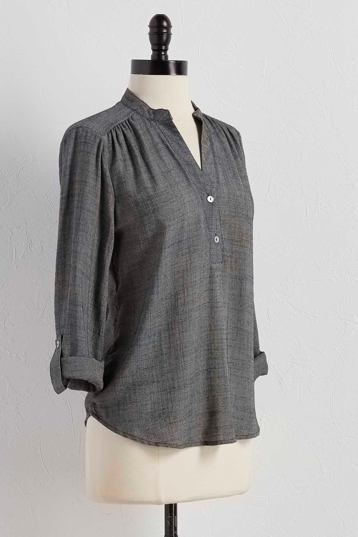 Roll Tab Sleeve Popover Top