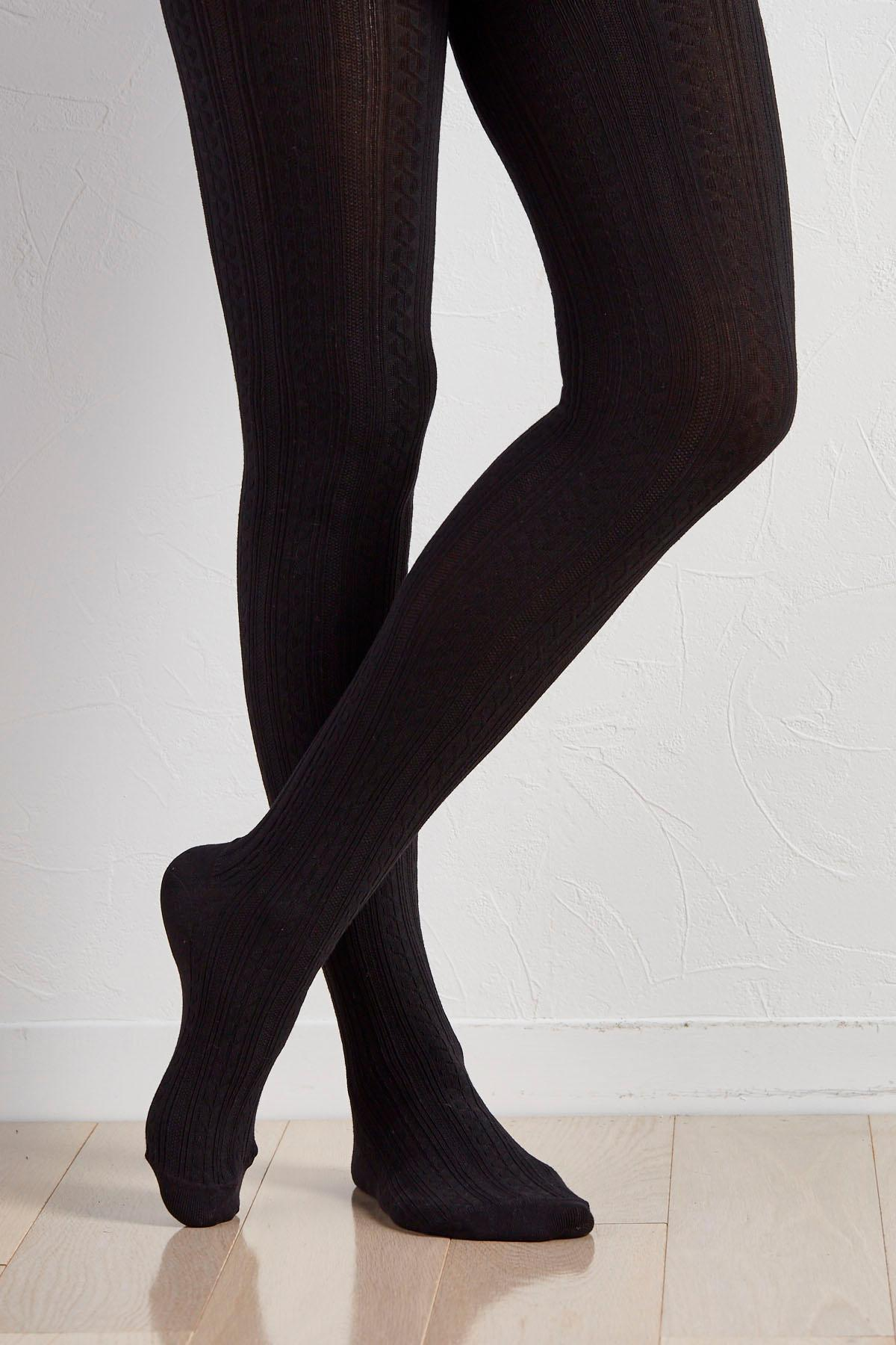 Cable Knit Sweater Tights