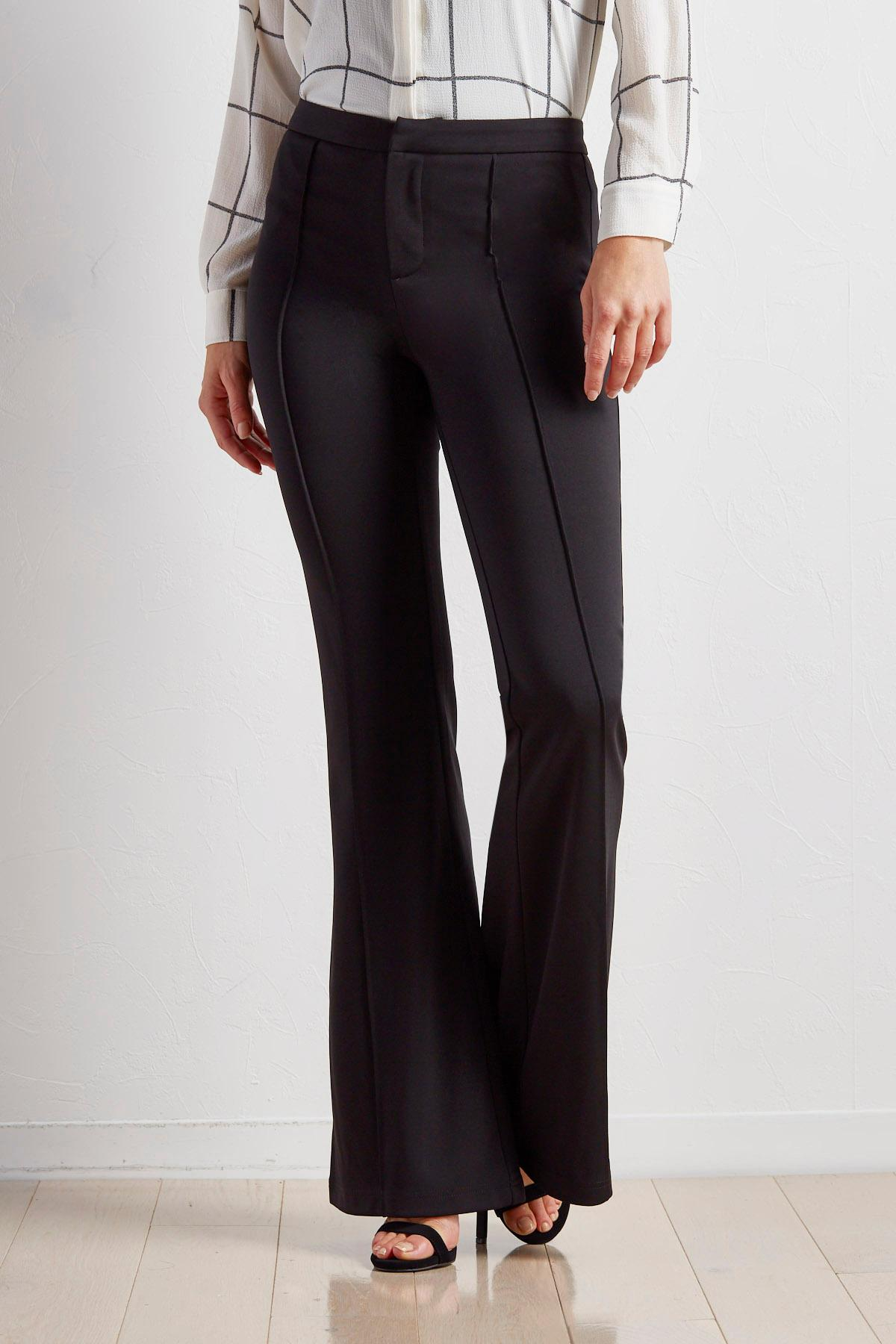 Seamed Front Wide Leg Trousers