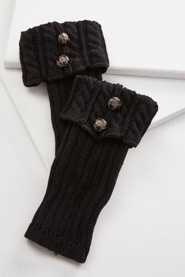 cuffed cable knit boot cuffs