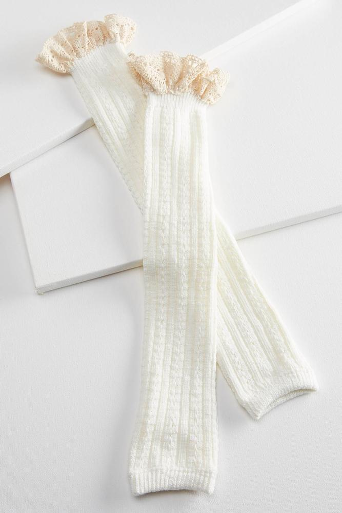 Space Dyed Crochet Trim Legwarmers