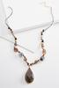 Stone Pendant Beaded Cord Necklace