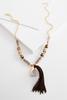 Semi- Precious Tassel Necklace