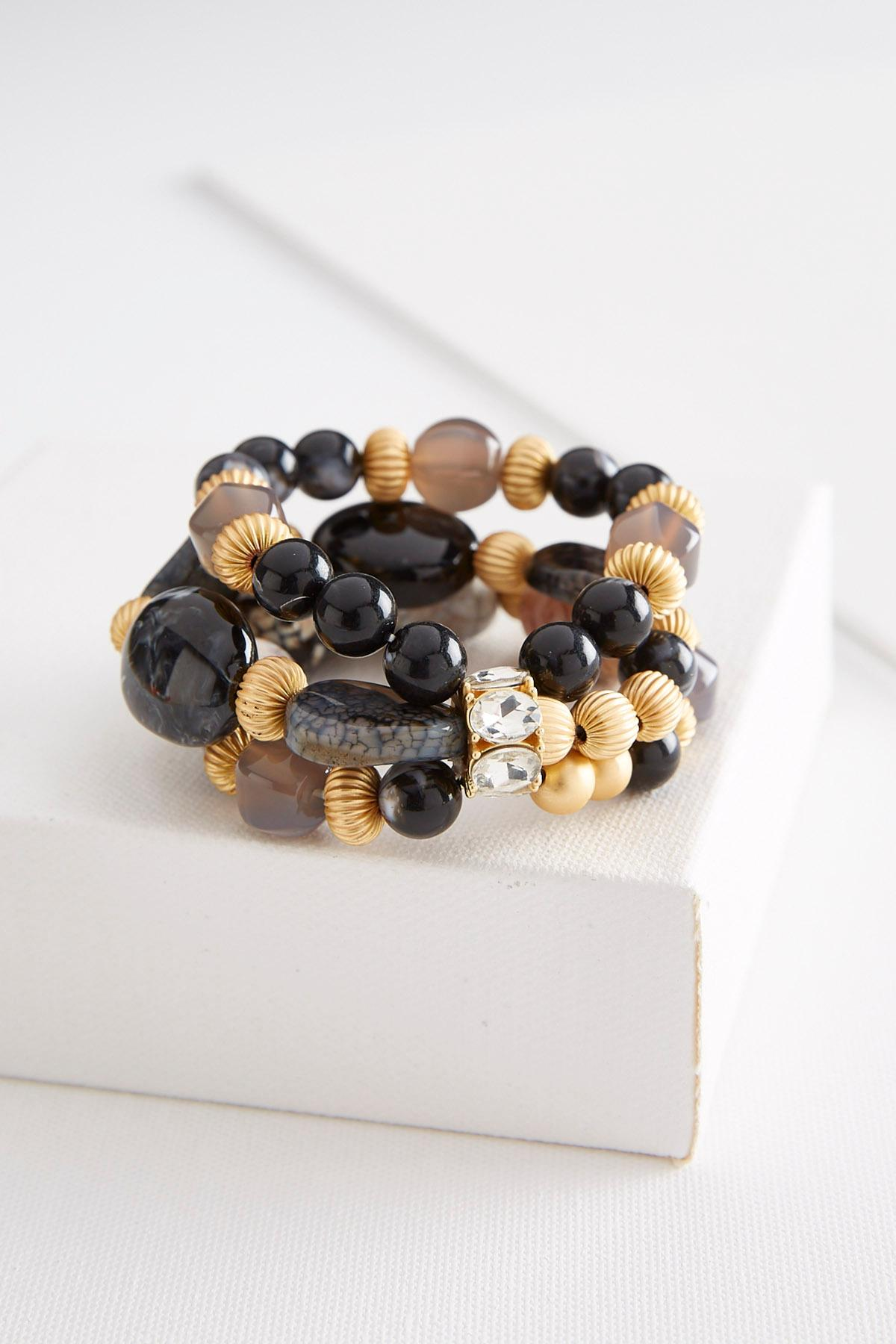 Layered Semi- Precious Bead Bracelet